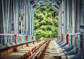 Close-up Railway, Railway Bridge Close-up, The Railway Passing Over The Bridge poster