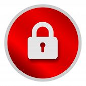 Save Download Preview Lock Icon Isolated On White Background. Lock Icon Simple Sign. Lock Icon Trend poster