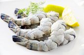 stock photo of antipasto  - king prawns - JPG