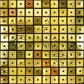 image of gold glitter  - Background and texture from square golden tiles - JPG