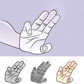 Multi-touch Hand Gestures for Smart-phone, Tablet And Pad- Three finger scroll