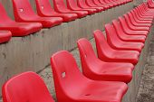picture of grandstand  - Seat grandstand Red Rams are several rows - JPG