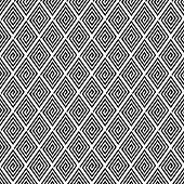 Seamless geometric texture with spiral diamond elements. Vector art.
