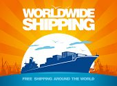 Worldwide shipping design template.