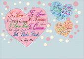 Ich liebe dich Te Amo Je'Taime Ich Liebe Dich-Karte