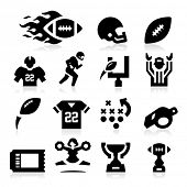 US-amerikanischer American-Football-Icons