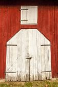 Red Barn White Doors