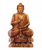 picture of siddhartha  - buddhist statue of Buddha isolated on white - JPG