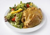 Curry Jacket Potato With Side Salad