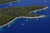 Bays with boats and yachts
