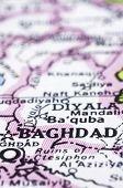 Постер, плакат: Заделывают Багдада на карте Ирак