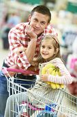 foto of trolley  - Family food shopping - JPG