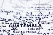 Close-Up da Guatemala mapa