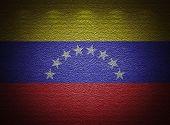 Venezuelan Flag Wall, Abstract Grunge Background
