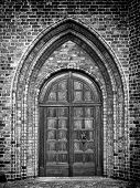 Church Door Monochromatic