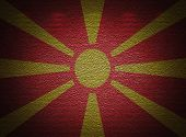 Macedonian Flag Wall, Abstract Grunge Background