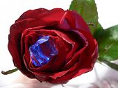 Rose With A Blue Crystal poster