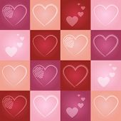 Valentine Heart Seamless Pattern