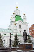 Pokrovsky Cathedral in the city of Krasnoyarsk