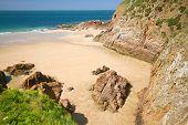 Picturesque Greve de Lecq Beach on Jersey, UK