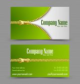 Zipper Theme Business Card