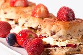 pic of devonshire  - macro picture of scones with fresh strawberries - JPG