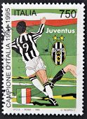 ITALY - CIRCA 1995: A stamp printed in Italy dedicated to Juventus of Turin Italy champion