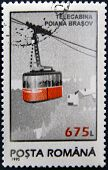 ROMANIA - CIRCA 1995: A stamp printed in Romania showing cable-way circa 1995.