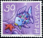 Switzerland - Circa 2001: A Stamp Printed In Switzerland Shows Fish With Colored Scales, Circa 2001