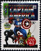 United States - Circa 2007: Stamp Printed In Usa Shows Captain America, Circa 2007