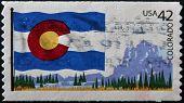 United States Of America - Circa 2009: A Stamp Printed In Usa Dedicated To Colorado, Circa 2009