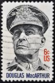 United States Of America - 1971: A Stamp Printed In Usa Shows General Douglas Macarthur