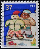 United States - Circa 2005: A Stamp Printed In Usa, Shows Cookie Elves, Circa 2005