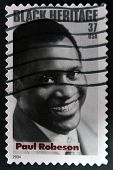 UNITED STATES - CIRCA 2004: stamp printed by United states shows Paul Robeson black heritage