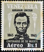 Venezuela - Circa 1965: A Stamp Printed In Venezuela Shows Abraham Lincoln, Circa 1965