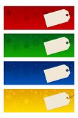 Four Christmas Banners