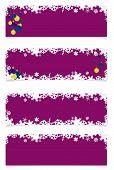 Four Violet Christmas Headers