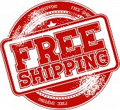 free shipping grunge stamp vector