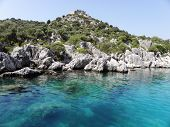 Ancint fort near Kekova bay.