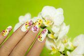 Art nail design.
