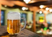 foto of spigot  - still life with beer glass in pub - JPG