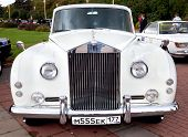 Classic Old Car White Front View