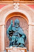 Pope Gregory XIII statue. Bologna, Italy