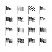 Flags template. Vector.