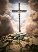 foto of golgotha  - Jesus Christ on The Cross - JPG