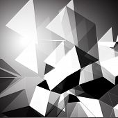 pic of triangular pyramids  - Grayscale triangular background - JPG