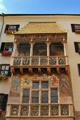 INNSBRUCK, AUSTRIA - AUGUST 13 : The famous Golden Roof (Goldenes Dachl) in Innsbruck, Austria on August 13, 2012. The roof was built in the 15th century in honor of Maximilian's second marriage.