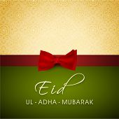 foto of eid ul adha  - Elegant greeting card or background for celebration of Muslim community festival of sacrifice Eid Ul Adha Mubarak - JPG