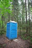 image of outhouse  - Toilet in the forest - JPG