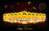 stock photo of dussehra  - illustration of Raavan Dahan for Dusshera celebration - JPG